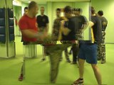 Exercises to hand combat, high-speed training. S.P.A.S. - street fight in Russia.