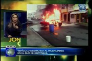Crónica Viva -  Un vehículo quedo calcinado al sur de Guayaquil
