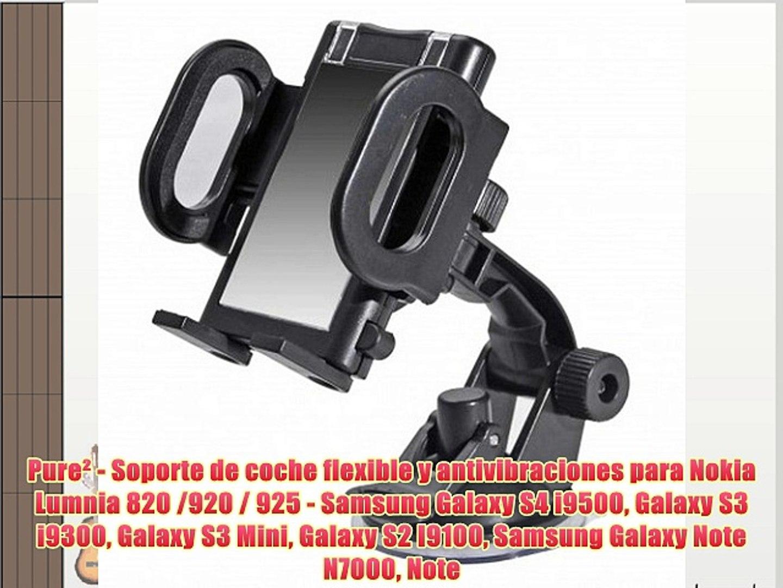 Pure? - Soporte de coche flexible y antivibraciones para Nokia Lumnia 820 /920 / 925 - Samsung