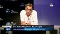 Bac 2013 : correction vidéo Bac Général série L sujet d'Histoire - Géographie sujet 2 : Les territoires dans la mondialisation : une inégale intégration