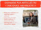 PLR Articles: Marketing with Private Label Rights Content