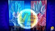 Dragon Ball Xenoverse (PS4) : SSGSS Goku [DLC] Vs SSGSS Vegeta [DLC] Gameplay【60FPS 1080P】