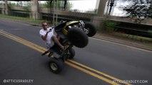 Violent choc entre un quad et une voiture