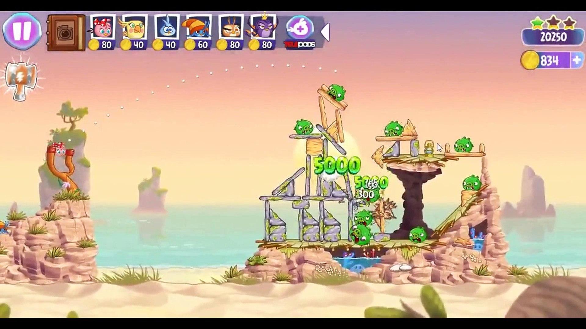 Angry Birds Stella Level 9 Episode 2 Walkthrough ★★★ Beach Day