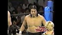 Riki Choshu/Kengo Kimura/Jushin Liger vs Bam Bam Bigelow/Owen Hart/Pat Tanaka (New Japan August 31st, 1989)