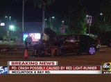 Chandler PD: Crash probably caused by red-light runner