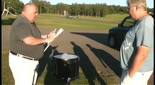Drummer shows Ridiculous snare drum skills on a Parking Lot