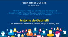 Antoine de Gabrielli - Forum national CCI Parité