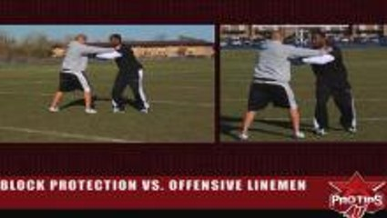 Nick Roach: Block Protection vs. Offensive Lineman
