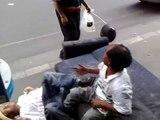 Pelea de borrachos por una mujer | Drunken brawl over a woman