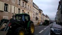Nancy : l'opération fumier des agriculteurs en colère