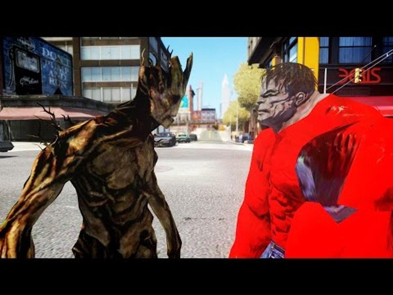 GROOT VS RED HULK - EPIC BATTLE