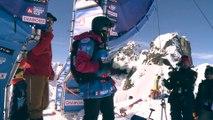 Le run de Marion Haerty durant le Freeride World tour à Chamonix
