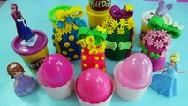 Peppa pig Spongebob Play doh surprise eggs DIPPIN DOTS Sofia the first Hello kit