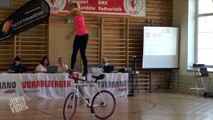 Girl Performs Impressive Bike Tricks | Balancing Act