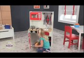 Children's Pretend Red Country Wooden Play Kitchen Toys KidKraft 53299