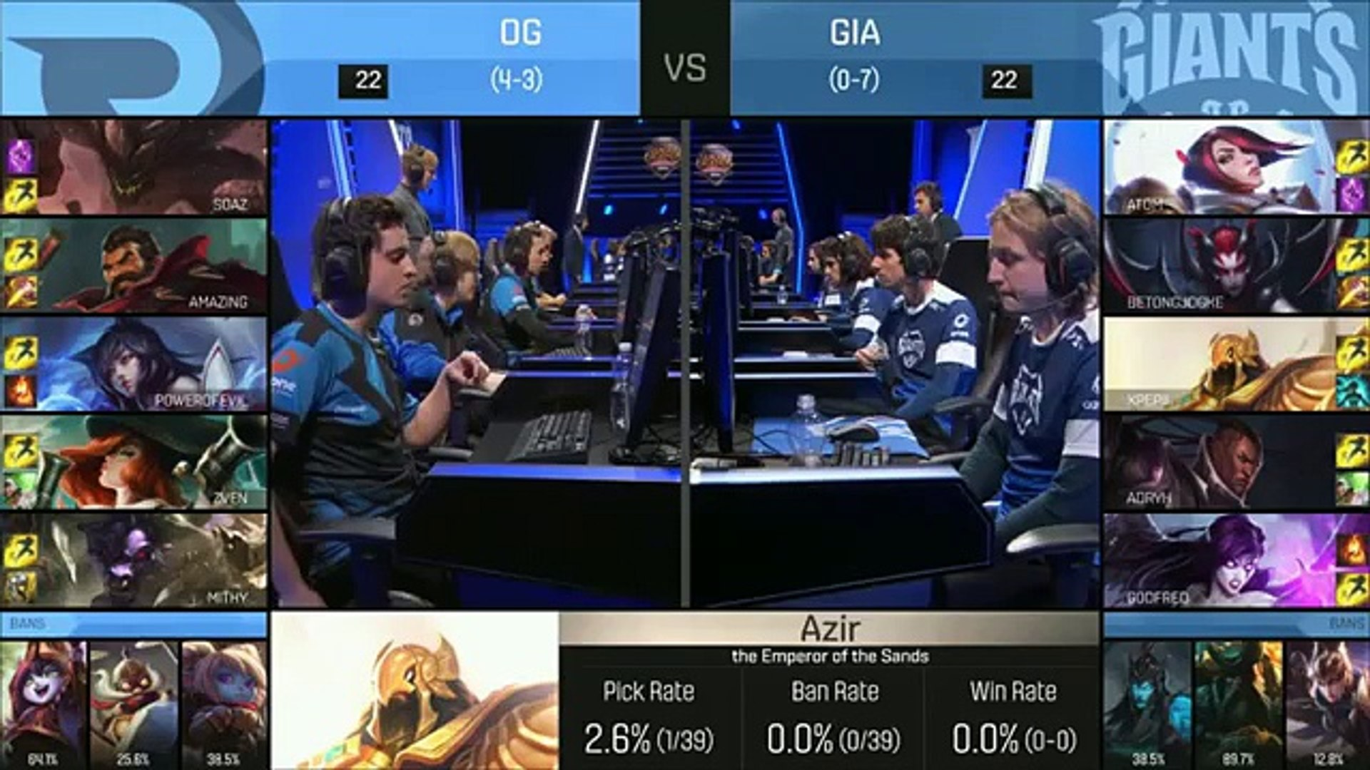 Origen (Powerofevil Ahri) VS Giants (Xpepii Azir) Highlights - 2016 EU LCS Spring W4D2 (FULL HD)