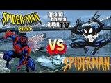 Spiderman 2099 vs Black Spiderman - Epic Battle - Grand Theft Auto