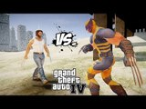 WOLVERINE (COMICS) VS WOLVERINE (HUGH JACKMAN)   GREAT BATTLE   GTA IV