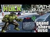 GTA IV: Death Race vs HULK | DEATH RACE CAR BATTLE THE INCREDIBLE HULK