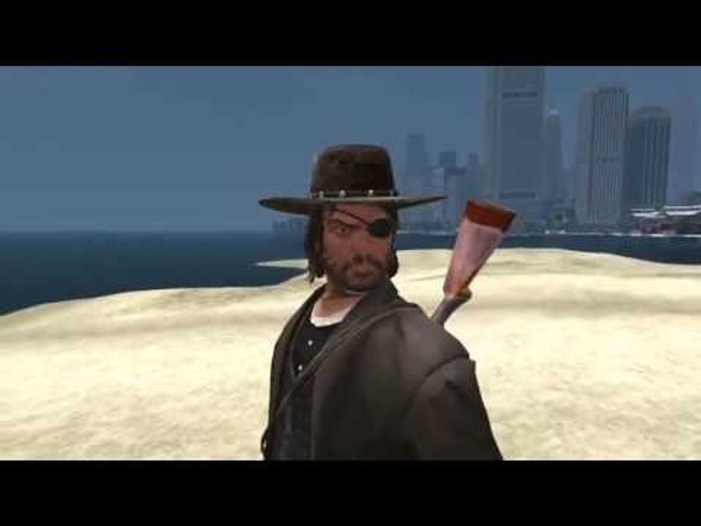 Niko Bellic In Red Dead Redemption Outfit With Majestic Revolver Gta Iv