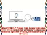 MiPow CCM101-60-PK Premium - Cable de carga y datos micro-USB con conectores de aluminio y