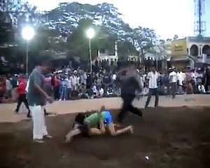 Strong Girl defeats boy in Kabaddi