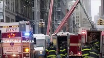 Mobile Footage Shows Crane COLLAPSE During Snow Storm In TriBeca Lower Manhattan New York City!!!! (World Music 720p)