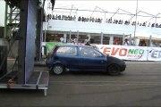 Fiat Punto GT Turbo Vs. Opel Calibra Drag Race