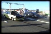 Alfa Romeo GTV6 Vs. BMW E30 Drag Race