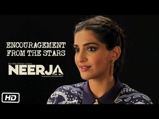 Making Of Neerja #1 : Encouragement from the Stars | Sonam Kapoor | Shabana Azmi