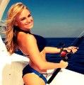 رمح الصيد. الصيد جيد. سمكة كبيرة