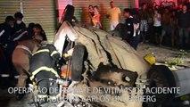 Vídeo mostra resgate de vítimas em acidente na Rodovia Carlos Lindenberg, em Vila Velha