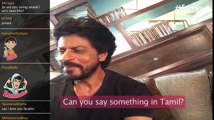 SRK attempts a Tamil dialogue! | #SRKLiveOnFame