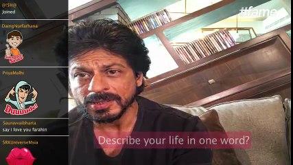 One word to describe Shah Rukh Khan | #SRKLiveOnFame