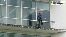 VIDEO. Tours : des alpinistes pour nettoyer les vitres de Trousseau