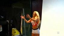 Bonus footage of Divas in football jerseys ! WWE RAW