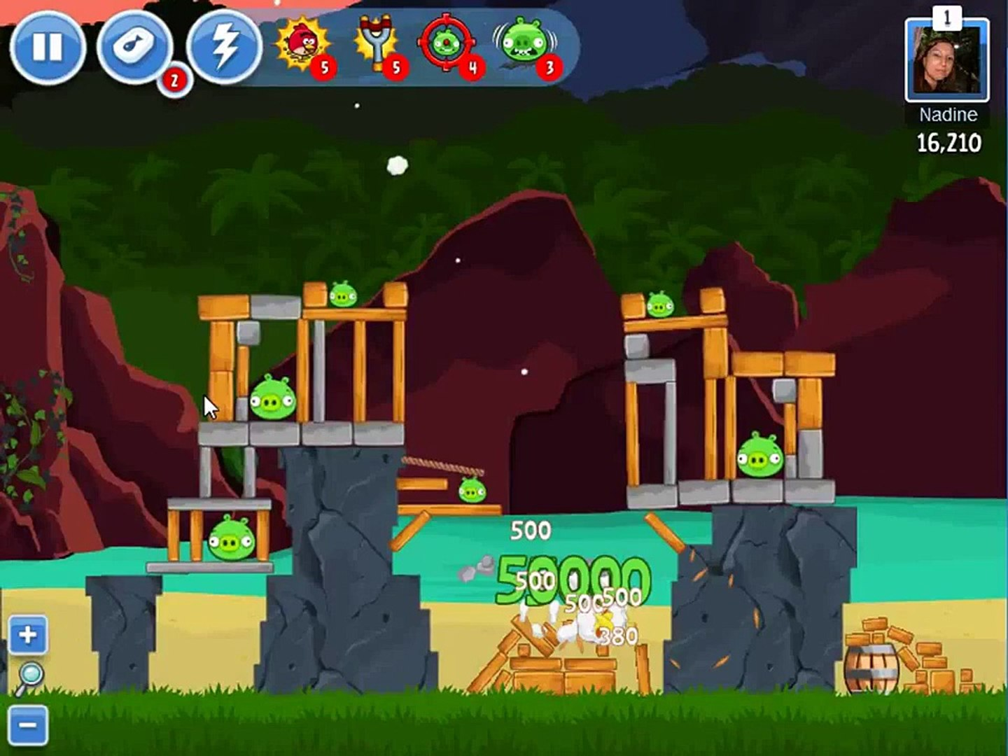 Angry Birds Facebook Surf and Turf Level 29 ★★★