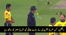 How Shahid Afridi is Supporting Asghar Like a Big Brother After Dropping Catch