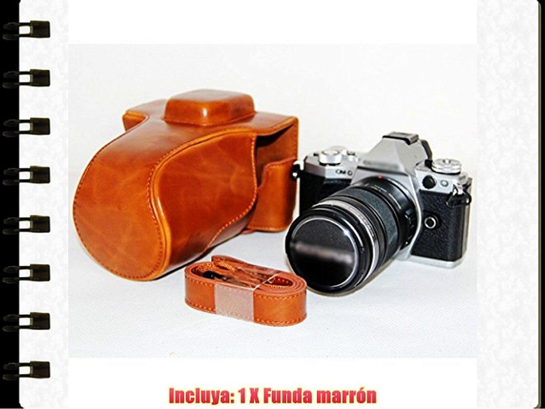 First2savvv XJPT-EM5II-09 Funda Cámara cuero de la PU cámara digital bolsa caso cubierta con