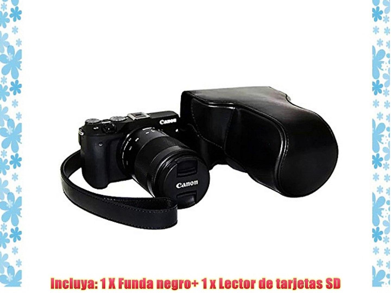 First2savvv XJPT-EOSM3-01G10 Funda Cámara cuero de la PU cámara digital bolsa caso cubierta