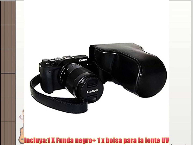 First2savvv XJPT-EOSM3-01PAL0201 Funda Cámara cuero de la PU cámara digital bolsa caso cubierta
