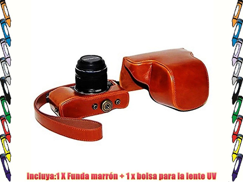 First2savvv XJPT-EP5-09PAL0201 Funda Cámara cuero de la PU cámara digital bolsa caso cubierta