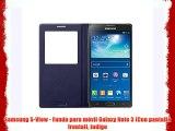 Samsung S-View - Funda para móvil Galaxy Note 3 (Con pantalla frontal) indigo