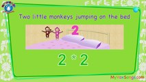 Five Little monkeys | SING ALONG Nursery Rhymes