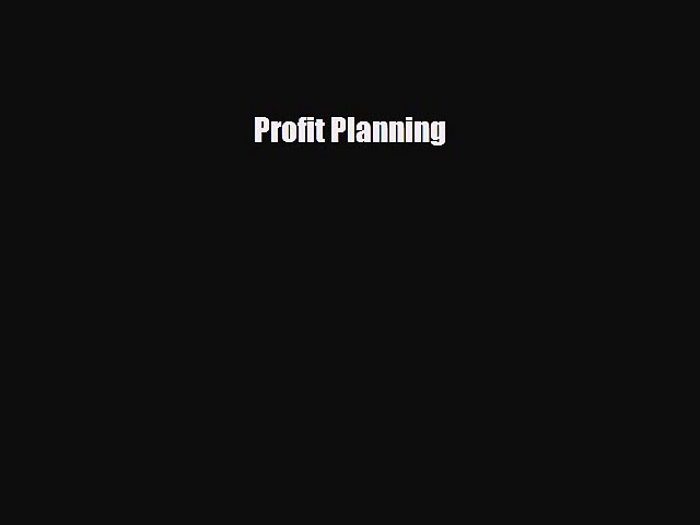 [PDF Download] Profit Planning [PDF] Online