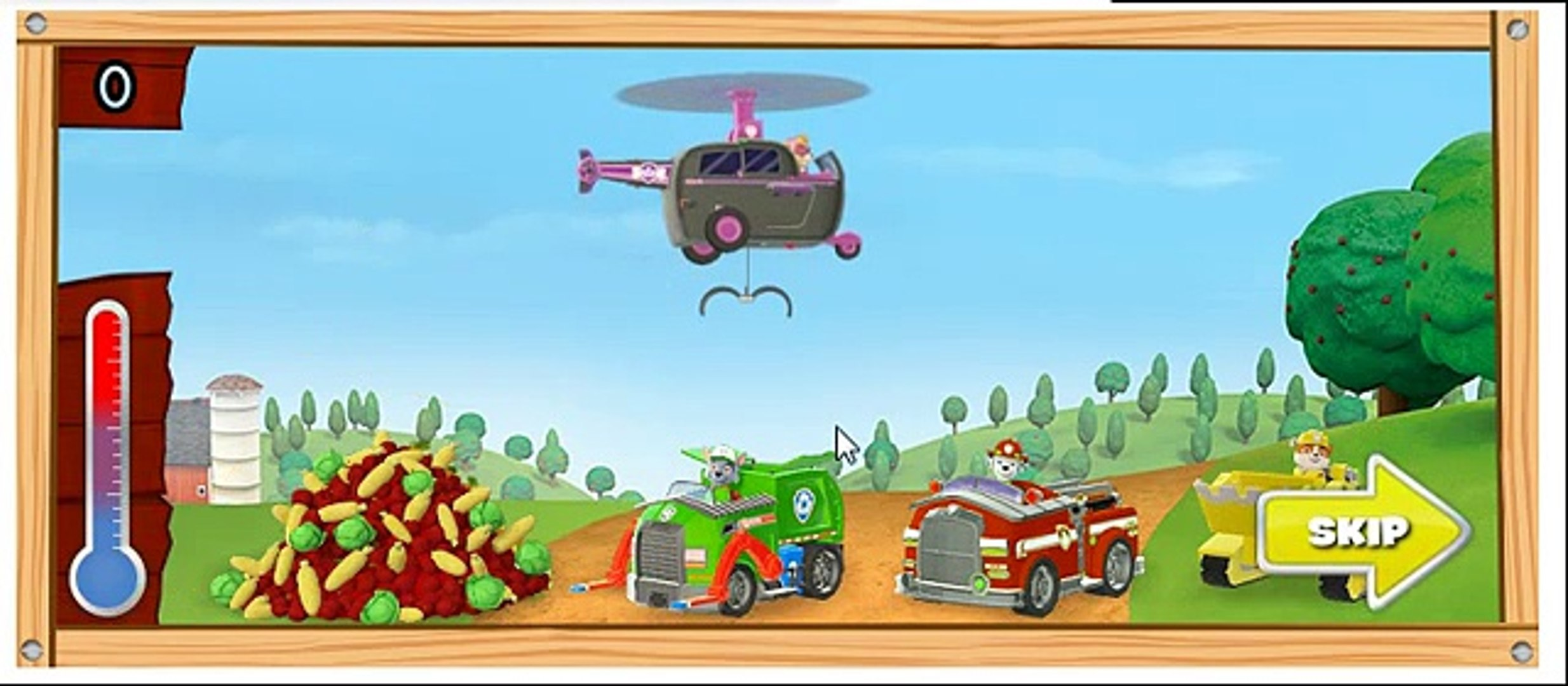 игра приключение щенячий патруль игра на ферме собери овощи