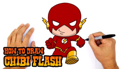 How to Draw Flash (Chibi)- Step by Step