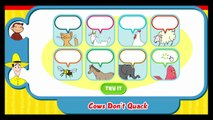 Curious George Cows Dont Quack Cartoon Animation PBS Kids Game Play Walkthrough