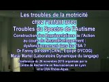 Les troubles de la motricité chez l'enfant avec Troubles du   Spectre de l'Autisme. Dr Fanny Barlaam et Marie Martel
